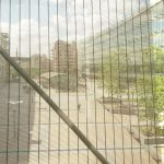"""The esplanade in front of the European Parliament """"Altiero Spinelli"""" building."""